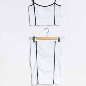 White Sport Tank Set Made in Italy